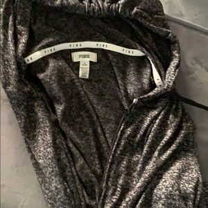 Victoria's Secret pink jacket grey soft material